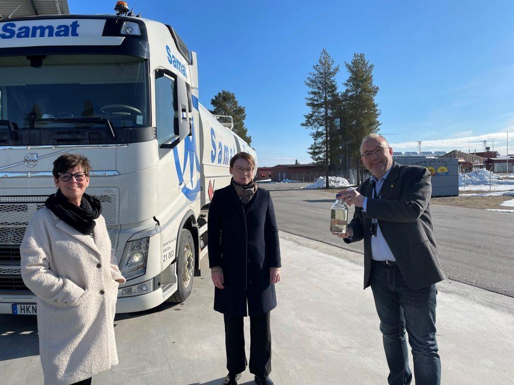 Första leveransen med fossilfritt bioflygbränsle till Skellefteå